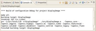 ساخت پروژه C++ در اکلیپس، ساختن پروژه OpenCV