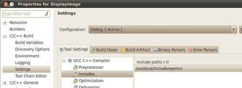 ساخت پروژه C++ در اکلیپس، اضافه کردن کتابخانه های OpenCV