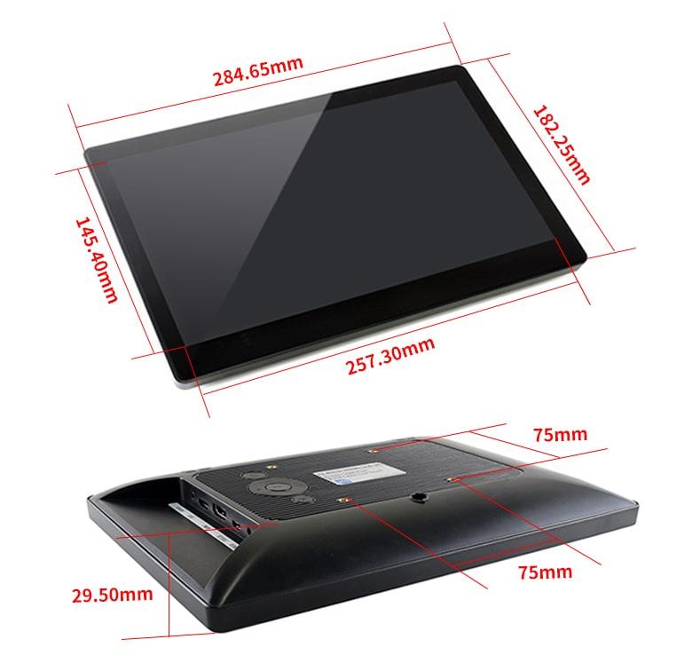 نمایشگر 11.6 اینچ لمسی