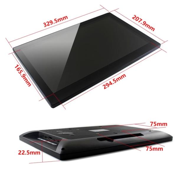 نمایشگر 13.3 اینچ با اتصال HDMI و مرغوب