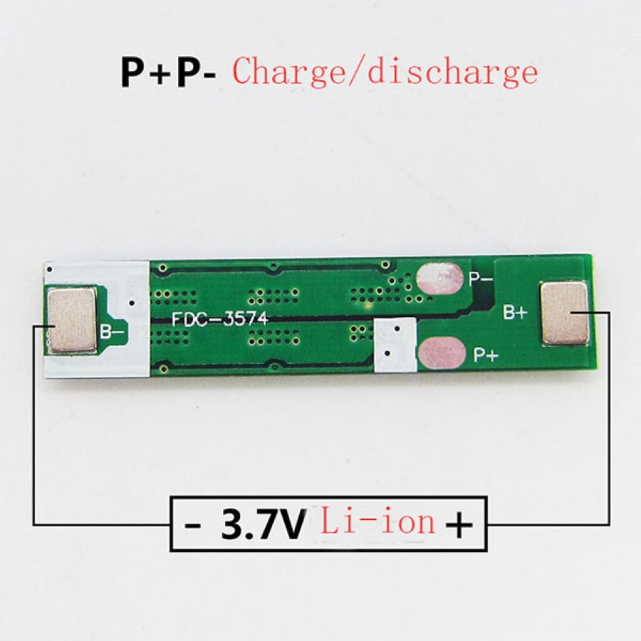 راهنمای سیمبندی محافظ باتری 1-سل لیتیوم 18650