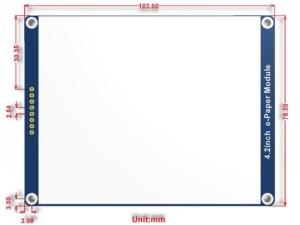 ماژول نمایشگر 4.2 اینچ e-ink