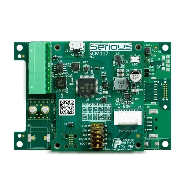 ماژول Power و ارتباطات SCM117 برای نمایشگر HMI پنل لمسی هوشمند SIM115