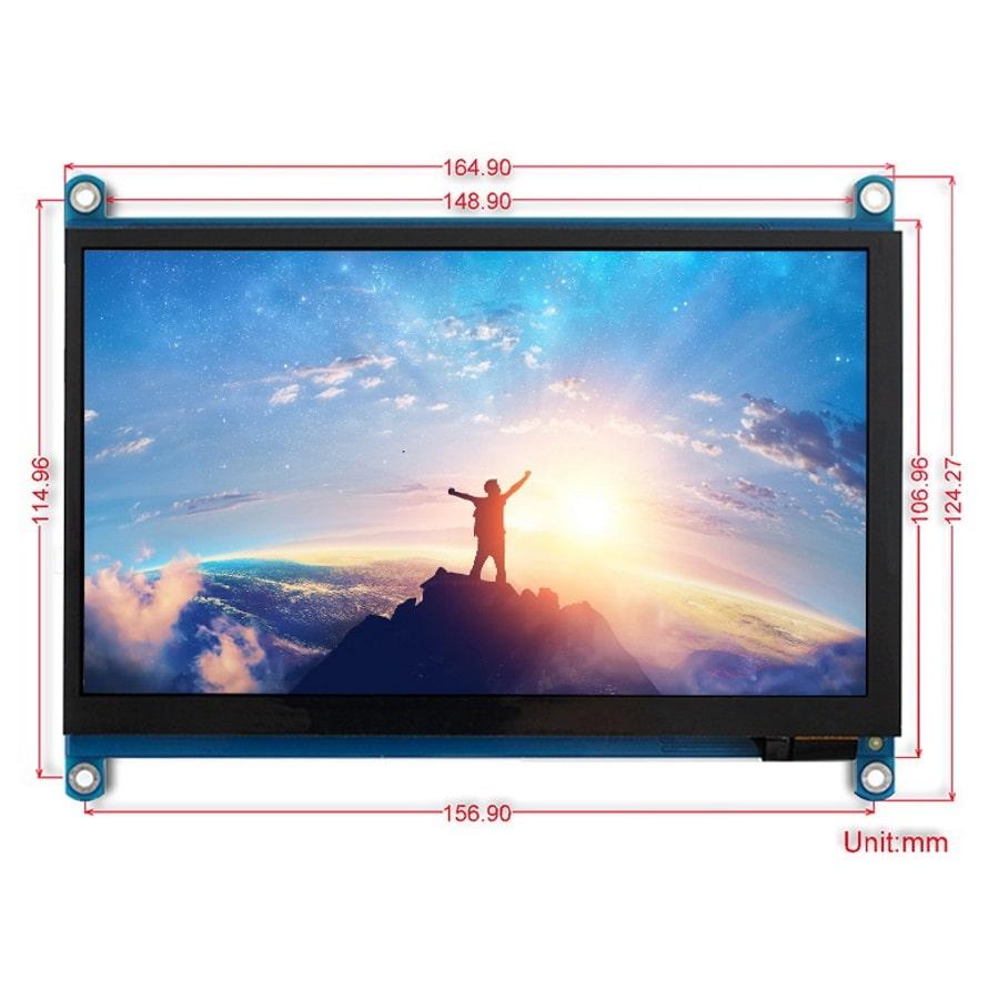 مانیتور 7 اینچ لمسی دارای ورودی hdmi و VGA