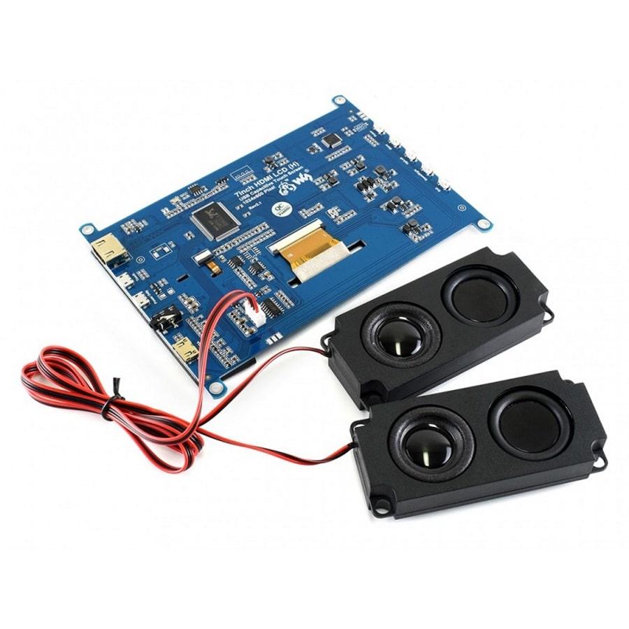 صفحه نمایش 7 اینچ hdmi با اتصال جک صوتی 3.5mm و پشتیبانی از خروجی صوتی HDMI