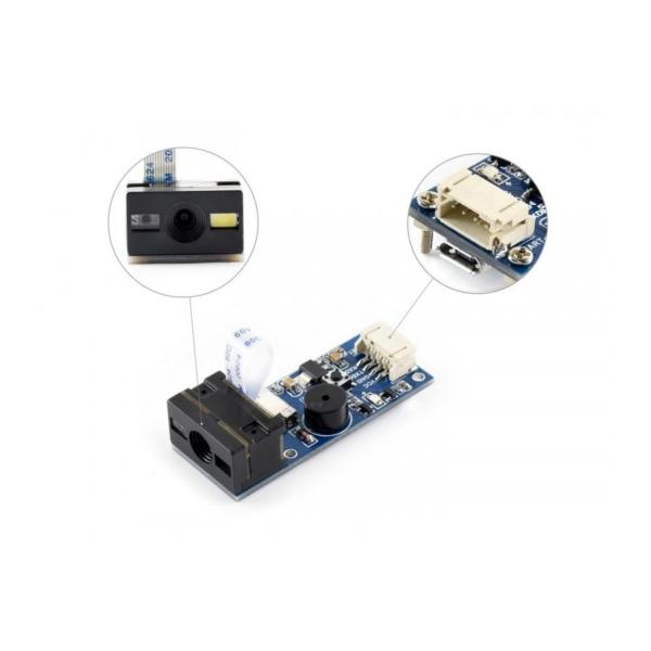 ماژول اسکنر QR دیجیتال، با ارتباط USB و UART