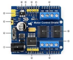 بخش های شیلد کنترل موتور آردوینو