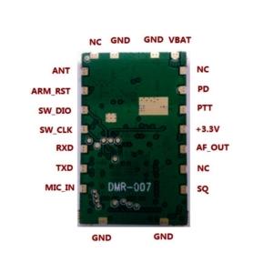 پایه های ماژول واکی تاکی SR_DMR_2WU برای اتصال آردوینو یا میکروکنترلر ها