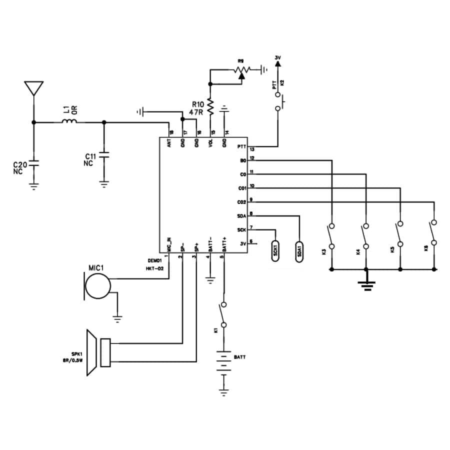 مدار بیسیم و واکی تاکی ارزان SR_T02