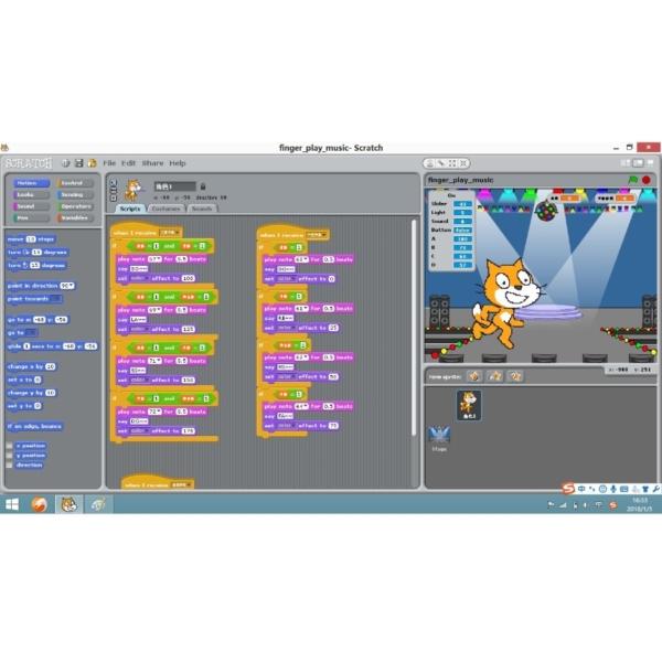 آموزش برنامه نویسی تصویری (ویژوال) اسکرچ (scratch) کیت آموزش برنامه نویسی picoboard