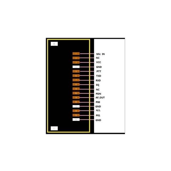 کانکتور ماژول فرستنده گیرنده SR_FRS_4WV مدل HR FH34SRJ 0.5