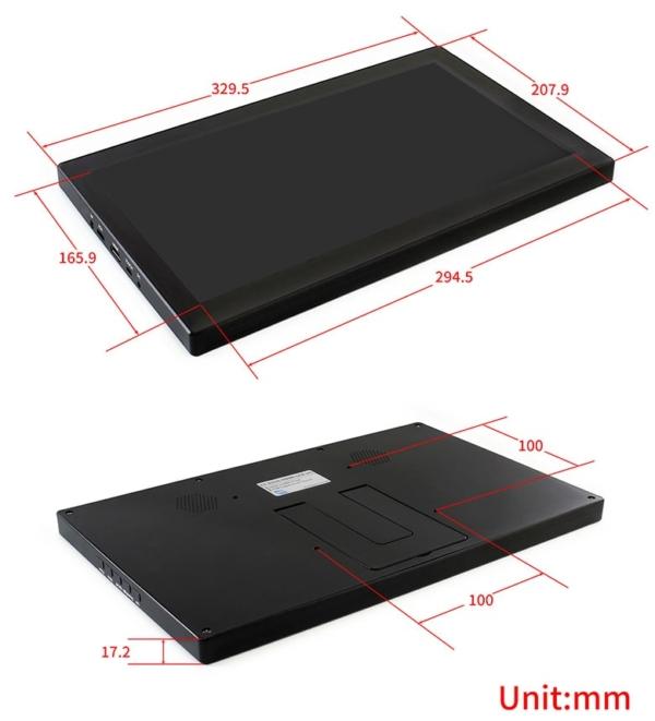 ابعاد مانیتور تاچ اسکرین صنعتی 13.3 اینچ برای پنل های صنعتی و کارگاه ها