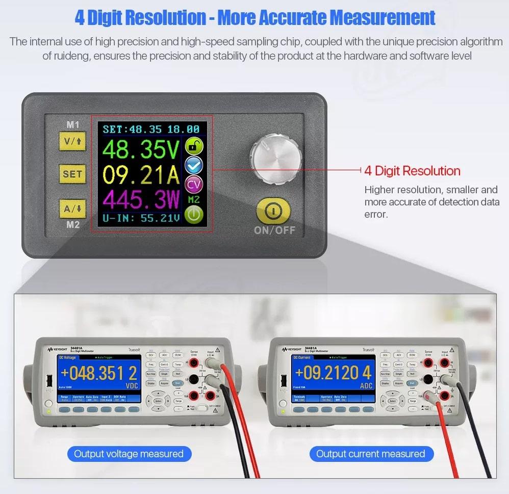 ماژول کنترل ولتاژ و جریان دیجیتال DPS5020 با قابلیت برنامه ریزی