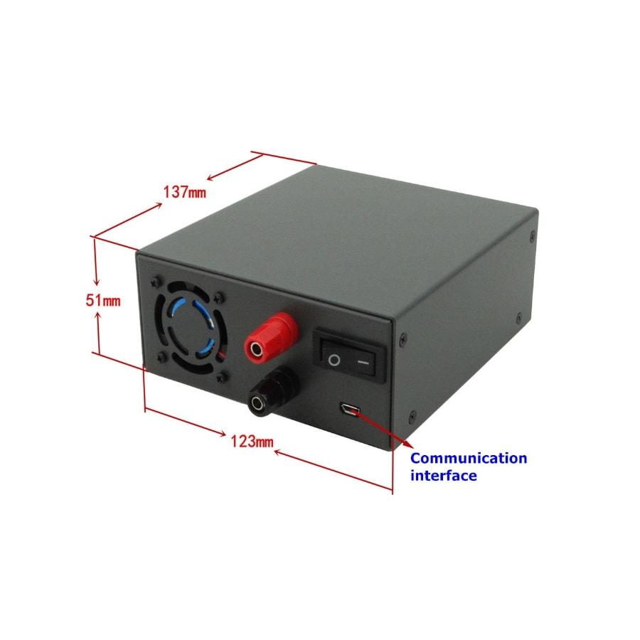 ماژول منبع تغذیه با کنترل جریان و ولتاژ به صورت دیجیتال همراه نمایشگر