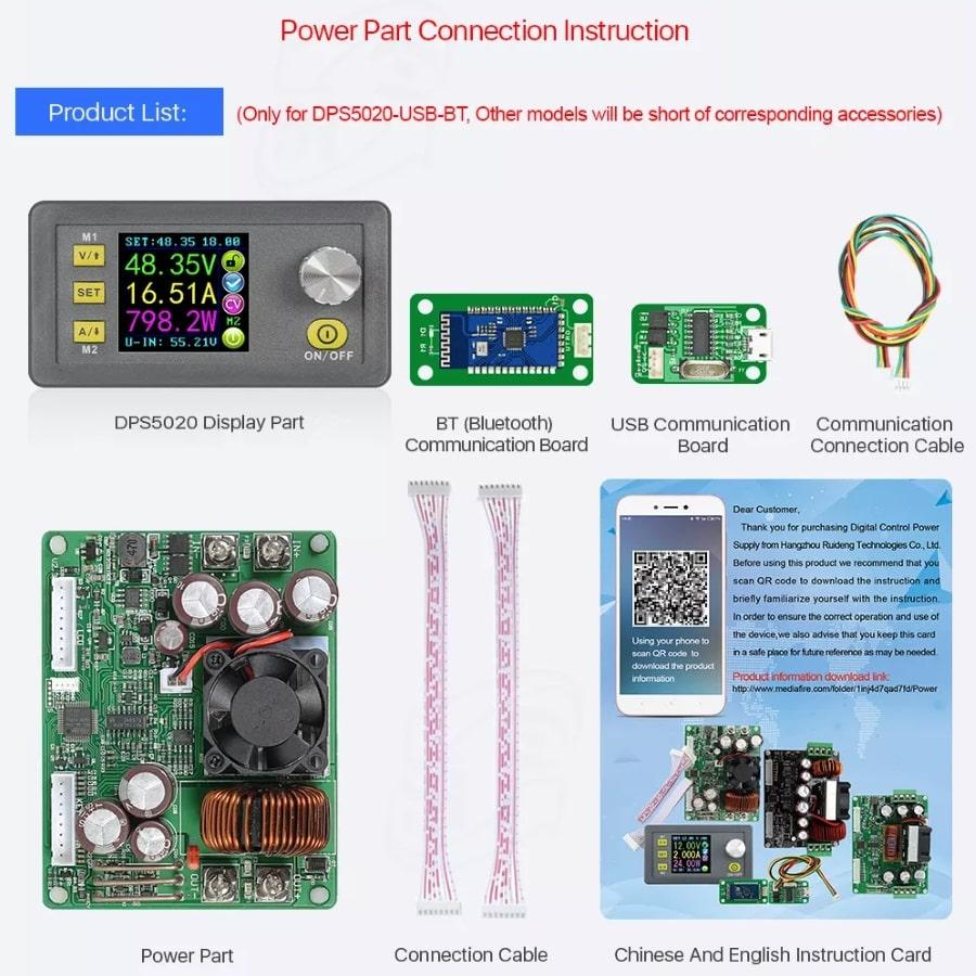 ماژول تنظیم ولتاژ 5 و 8 و 10 و 20 آمپر و مبدل ولتاژ dc به dc کاهنده