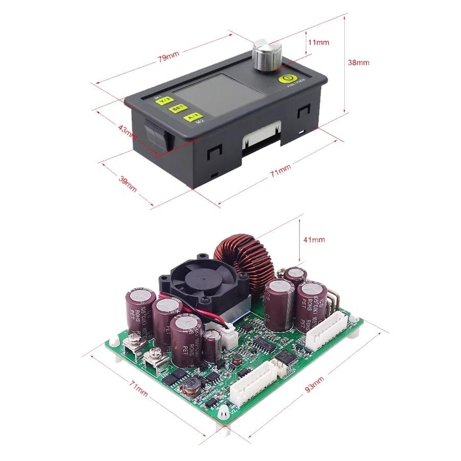 ماژول نمایشگر دیجیتال ولتاژ و جریان با قابلیت کنترل و تنظیم