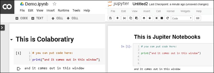 تفاوت نوتبوک Jupyter با colab گوگل