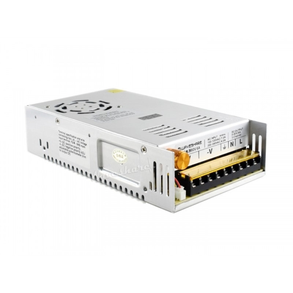 منبع تغذیه قابل تنظیم ولتاژ های قابل انتخاب 0 تا 50 ولت، 0 تا 80 ولت، 6 آمپر