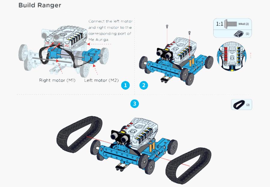 ساخت mbot ranger و لوازم ساخت ربات mbot ranger