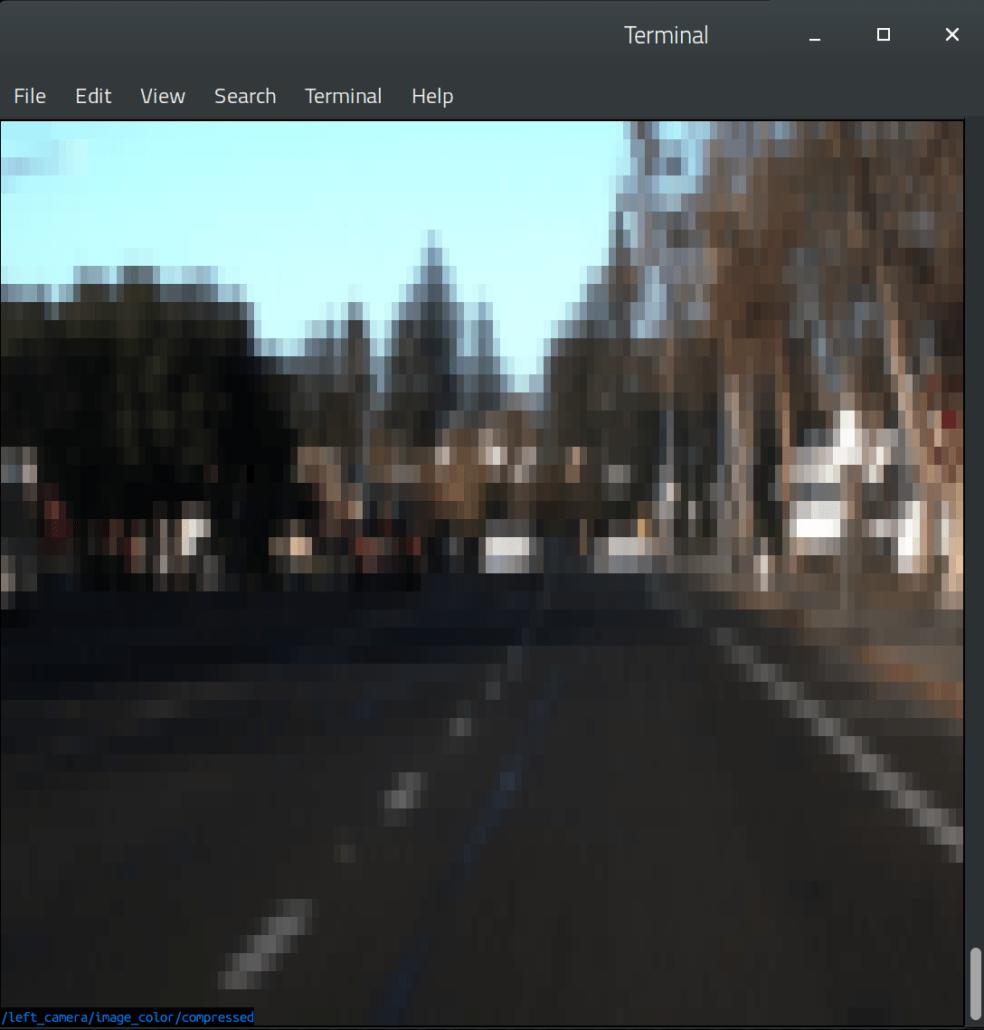 ارسال داده های تاپیک دوربین مربوط به پردازش تصویر ROS از طریق SSH