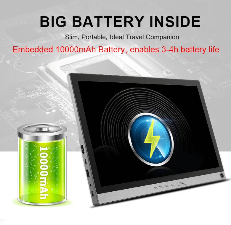 مانیتور قابل حمل با باتری