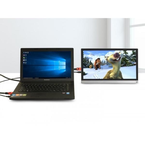 مانیتور قابل حمل لپ تاپ 15 اینچ با رابط HDMI و باتری