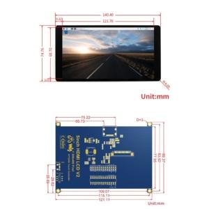 سایز نمایشگر 5 اینچ HDMI AMOLED