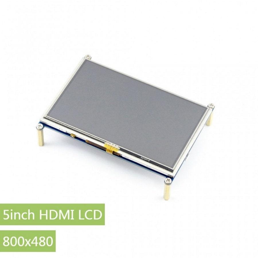 نمایشگر 5 اینچ لمسی دارای ورودی hdmi و VGA