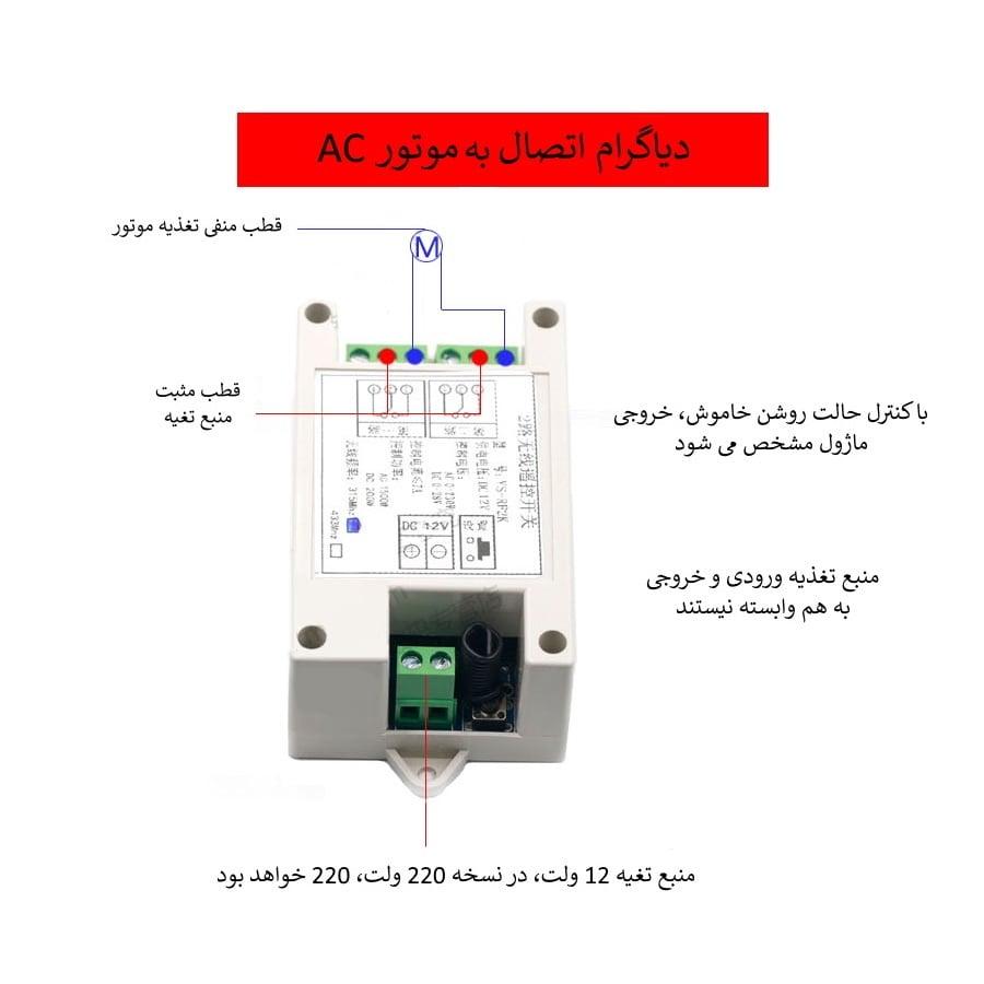 کنترل از راه دور موتور ac با ریموت کنترلر