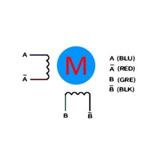 استپ موتور دو فاز چهار سیم (Two-phase four lines)