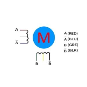 استپ موتور دو فاز شش سیم (Two-phase six lines)