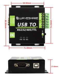 مبدل USB به RS485/RS232/TTL ایزوله درجه صنعتی