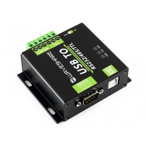 ماژول مبدل USB به RS485/RS232/TTL ایزوله درجه صنعتی