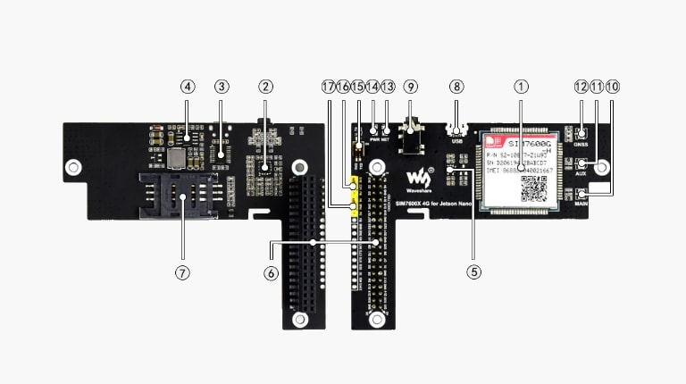 ماژول SIM7600G برای ارتباط 4G برد Jetson