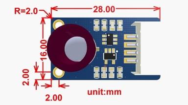 ابعاد دوربین MLX90640