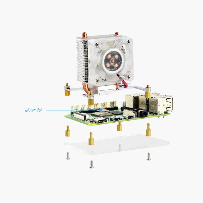 فن خنک کننده رزبری پای ICE Tower