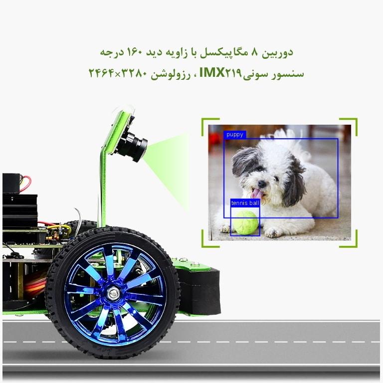 ربات برای یادگیری ماشین و پردازش تصویر به همراه دوربین IMX219
