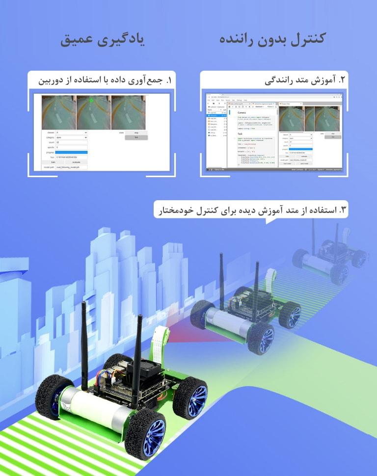 کنترل ربات بدون راننده با یادگیری ماشین
