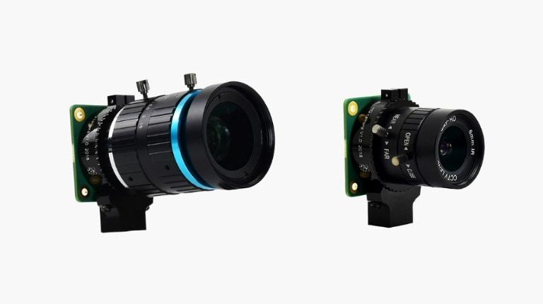 دوربین با لنزهای قابلتعویض تلهفوتو و فوق عریض مانت C و مانت CS