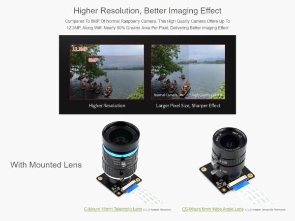 دوربین 12.3 مگاپیکسل برای جتسون نانو و رزبری پای CM3