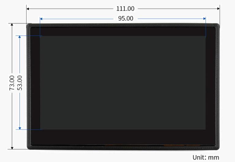نمایشگر تاچ خازنی 4.3 اینچی