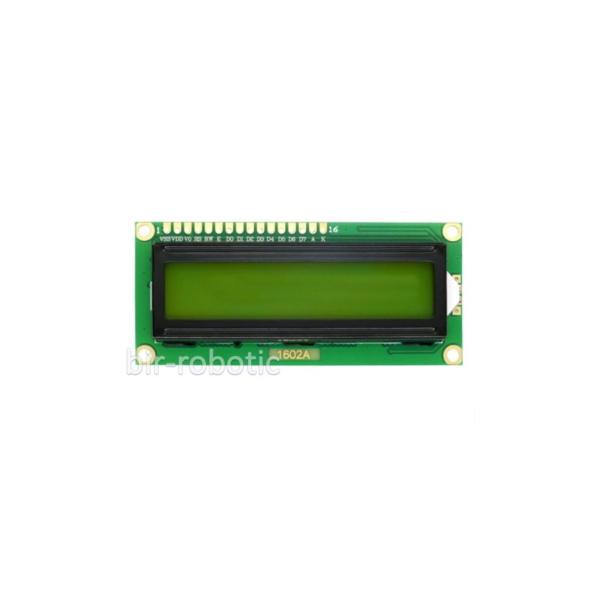 نمایشگر 1602 کاراکتری سبز-زرد