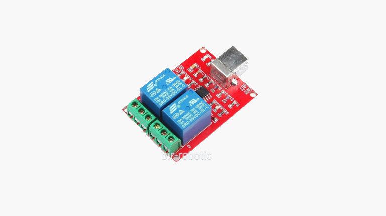 ماژول رله دو کاناله کنترل USB