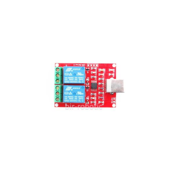 ماژول رله 2 کاناله کنترل USB